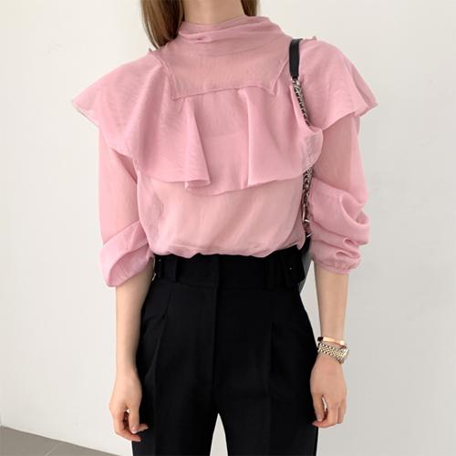 Janet ruffle blouse