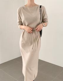 Saddle knit dress