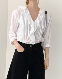 Alice ruffle blouse