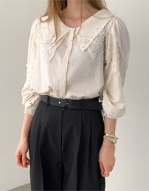 Loel lace collar blouse