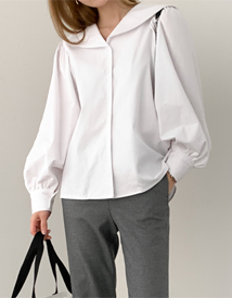 Collar unbal blouse