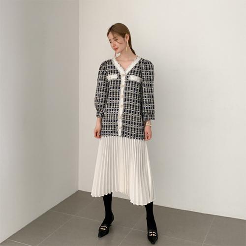 Shelley tweed pleats dress