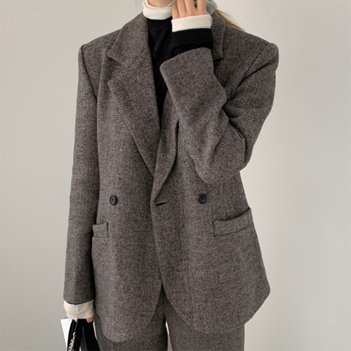 Herringbone set up jacket