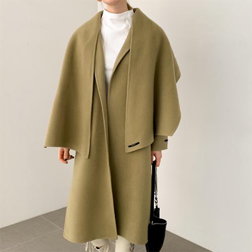 Cape wool coat