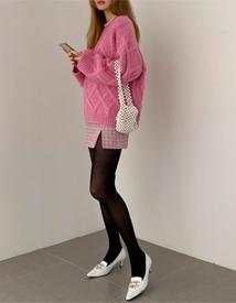 Cobi tweed skirt