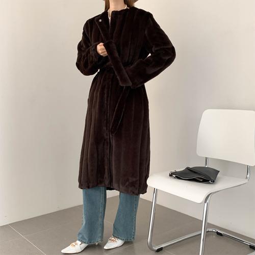 Ally fur long coat