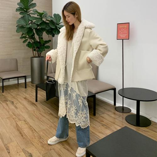 Lace blouse dress
