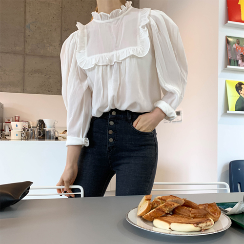 Lucy frill blouse