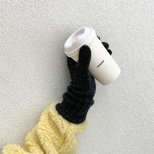 Cashmere wool gloves