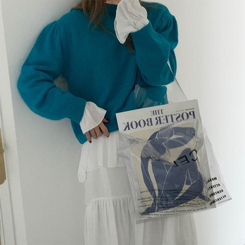 Angora puff knit