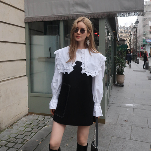 Lace sailor blouse