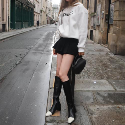 Tweed culotte pants