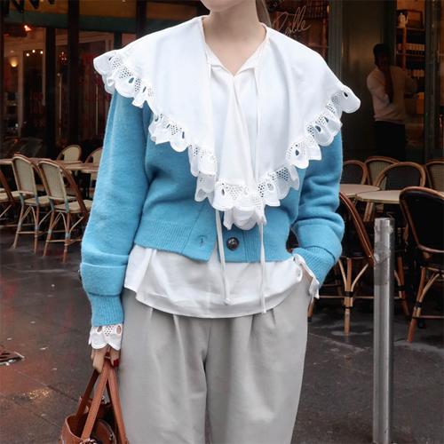 Bubble lace blouse