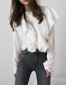 Eileen ruffle blouse