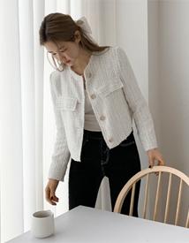 Tweed crop jacket