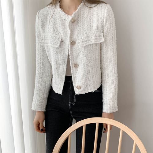 Tweed crop jacket