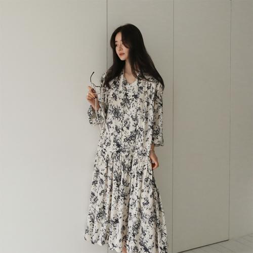 Dab rose long dress