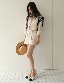Lax cotton skirt