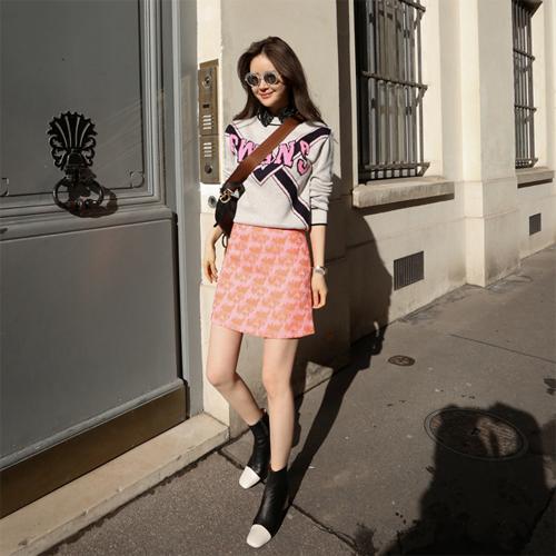Jacquard mini skirt