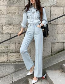 Merit denim pants (light blue)
