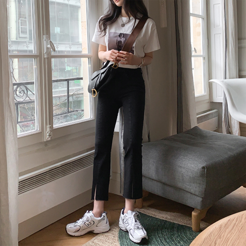 Foin black denim pants