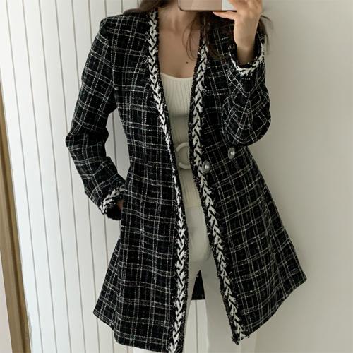 Tweed check dress