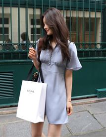 Blanc mini dress