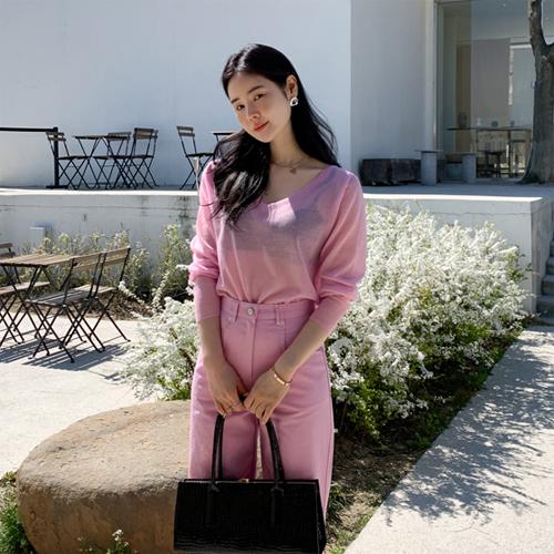 Candy v-neck knit