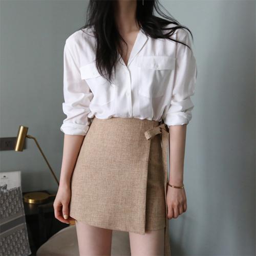 Vivid pocket blouse