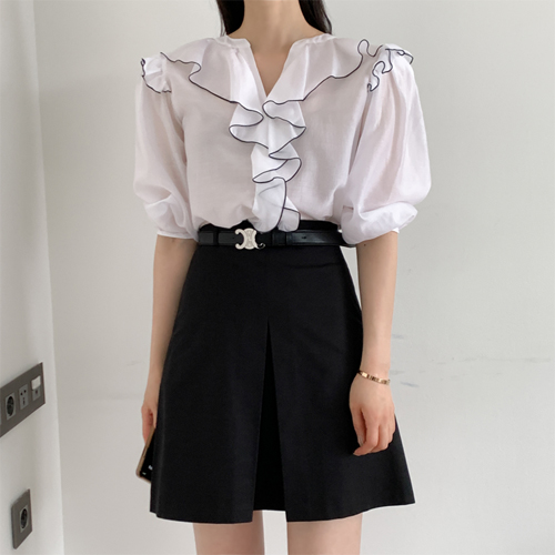 Maybe frill blouse