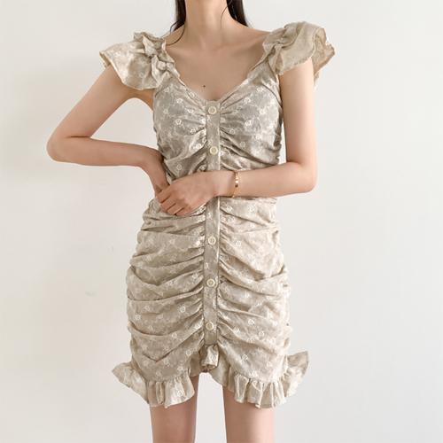Julie shirring dress