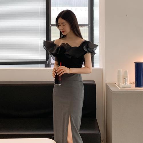 Goddess frill blouse
