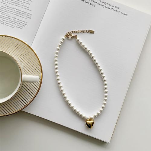 Heart jinju necklace