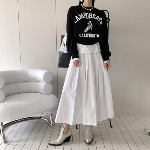 High pleats skirt