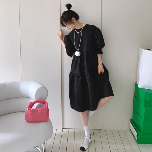 Meringue Jacquard dress