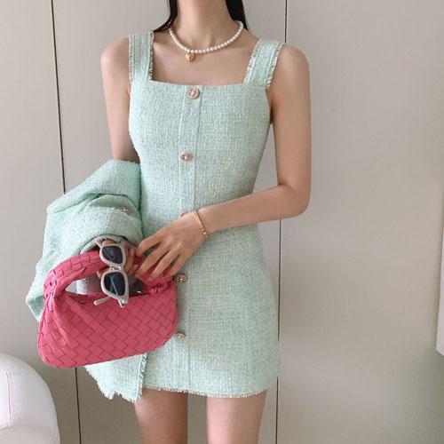 Daisy tweed dress