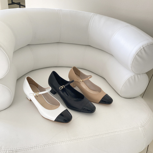 Twotone mary Jane pumps ♩