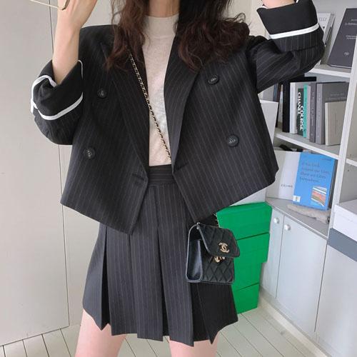 Stripe short jacket