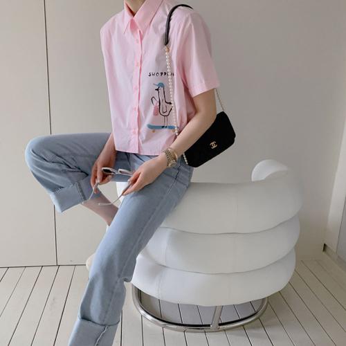 Shopping crop shirt