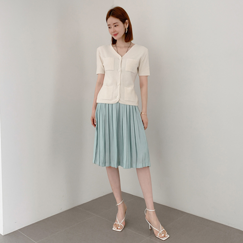 Poin pleats skirt