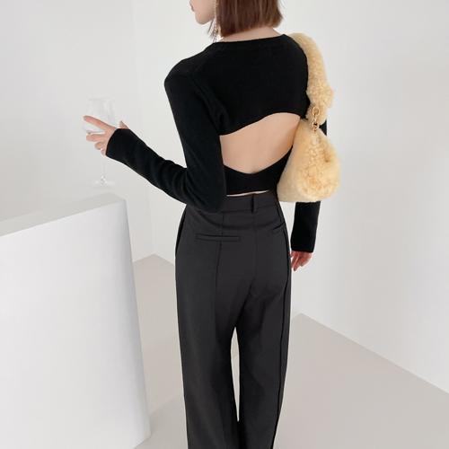 Back open knit