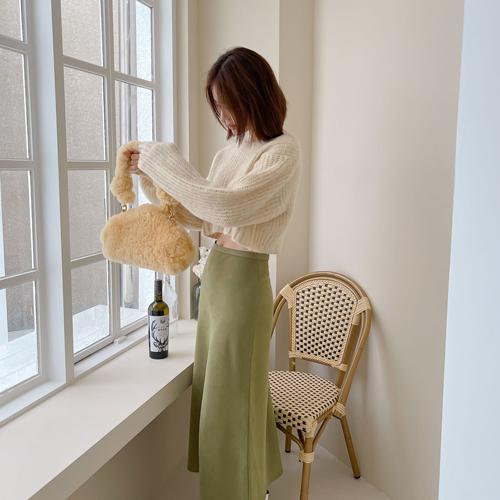 Pastel brush knit