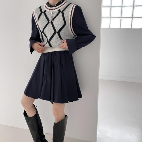 Jacquard knit vest *color : pink Shipping after October 4*